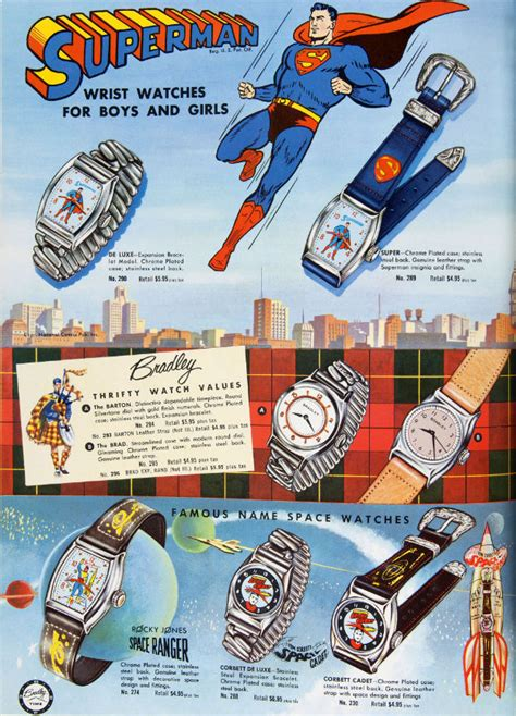 Superman Watch Ad from 1950s – Brian
