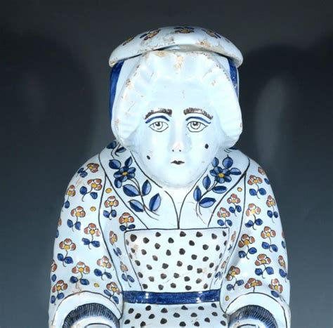 Northern French Faience Character Toby Jugs, Lille at 1stdibs