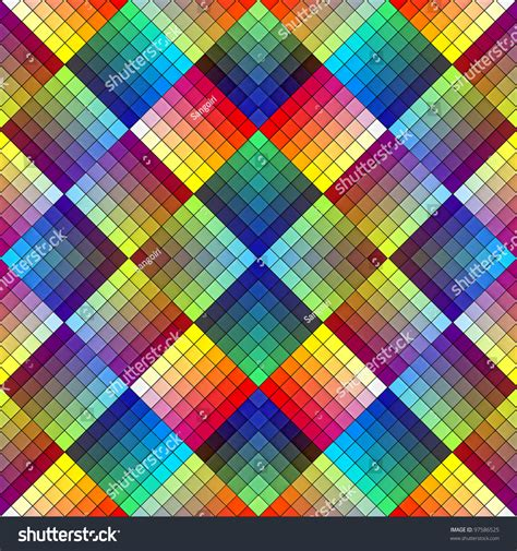 Art Deco Mosaic Tile In Retro Style, Seamless Pattern In
