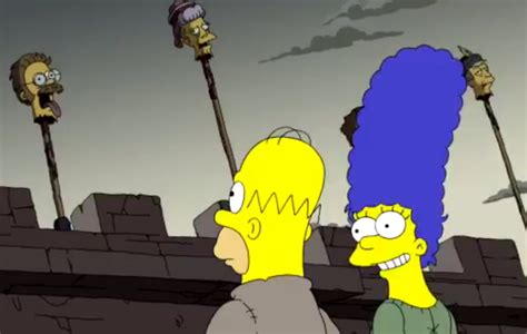Watch 'The Simpsons' send up 'Game of Thrones' in the