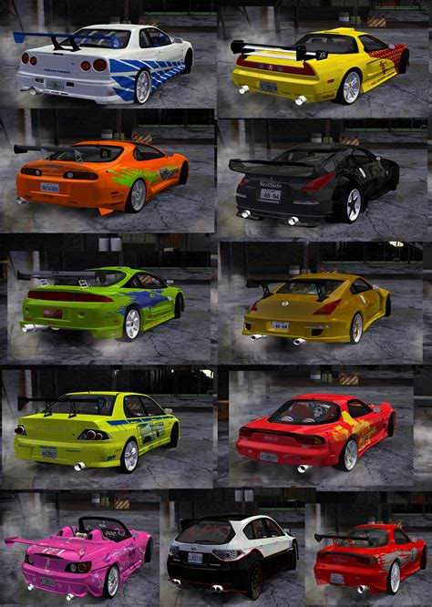 Need For Speed Most Wanted Global Fast&Furious Car Pack