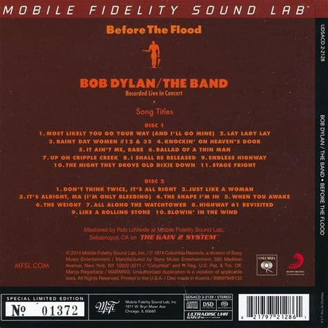 Bob Dylan / The Band - Before The Flood (1974) [2 Hybrid