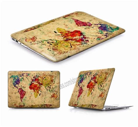 Antique Map Of World Laptop Sleeve Protective Cover For
