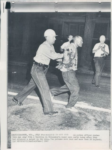 """PRESS COLLECTION: """"Milwaukee Riot"""" (1967)   These"""