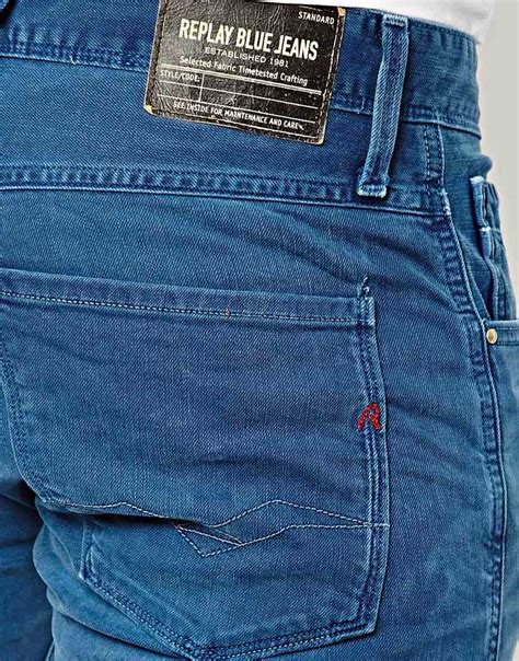 Lyst - Replay Jeans Anbass Slim Fit Blue Overdye in Blue