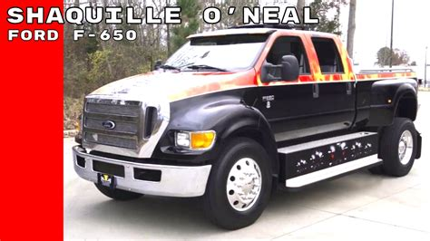Shaquille O'Neal Buys Ford F-650 XLT Super Duty Truck