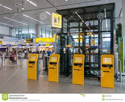 Check-in At Schiphol Amsterdam Airport, Holland Editorial