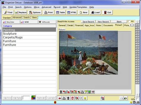 Free Art Antiques Inventory Detailed database template for