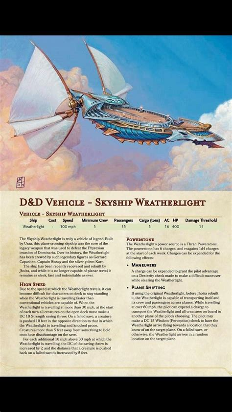 MTG Flying ship   Dnd dragons, Dungeons and dragons