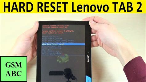 HARD RESET Lenovo TAB 2 A10-30 | How to | Tips and Tricks