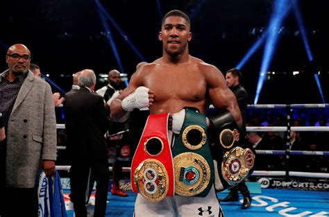 Anthony Joshua calls out Deontay Wilder and Joseph Parker