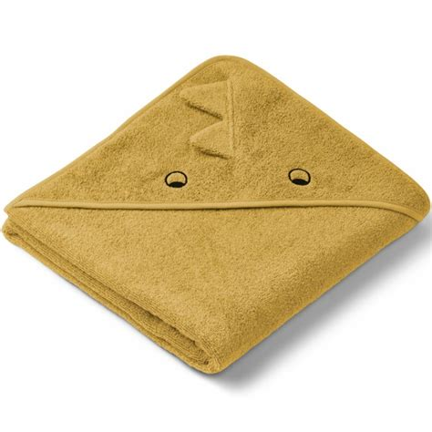 Liewood Augusta hooded towel - Dino yellow mellow