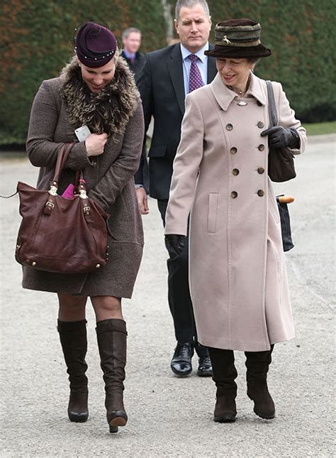 Zara Phillips, Princess Anne, Autumn Phillips, and the