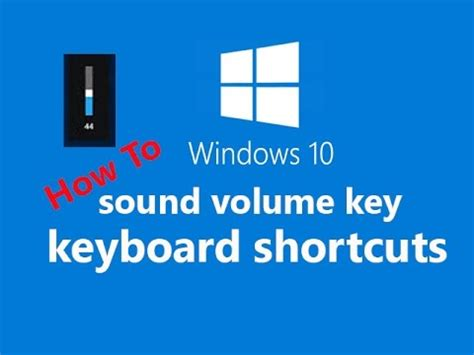How to make keyboard shortcuts for volume up/down in