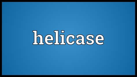 Helicase Meaning - YouTube