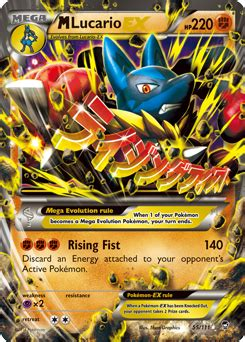 M Lucario-EX | XY—Furious Fists | TCG Card Database