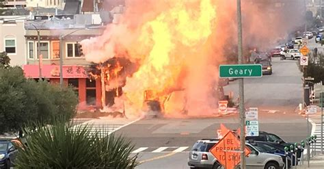 SFFD Responds to Richmond District Explosion, Fire Near