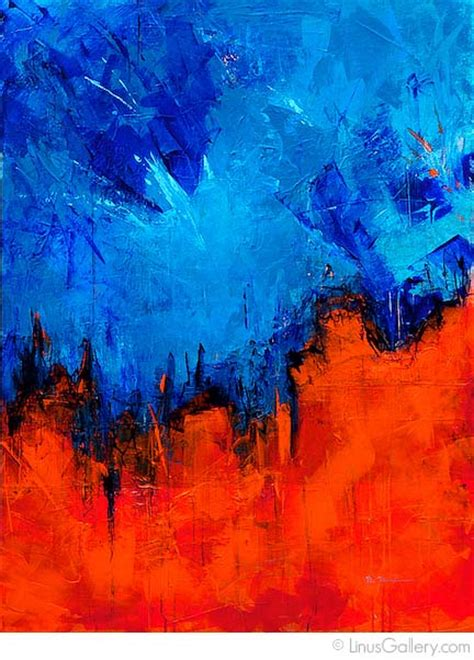 Abstract Expressionism Artist Michelle Meister   Fire And