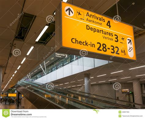Schiphol Amsterdam Airport Terminal Signs, Holland