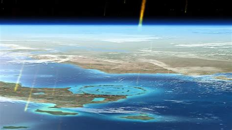 Aftermath of Chicxulub asteroid impact, animation - Stock