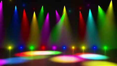 Disco Stage Dance Floor Colorful Stock Footage Video (100%