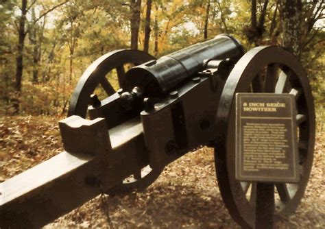 """Finally , 1861 8"""" Seige Howitzer on 24 PDr field carriage"""