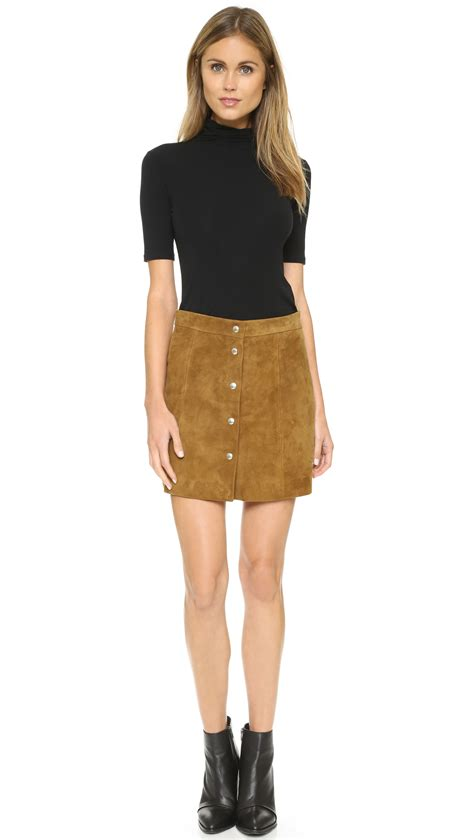 IRO Fellini Suede Skirt - Camel in Natural - Lyst