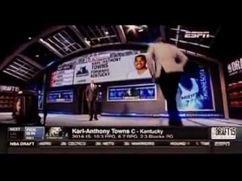 Karl-Anthony Towns Becomes First Latino to Win Rookie of