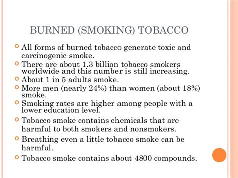 Harmful Health Effects of Tobacco consumption